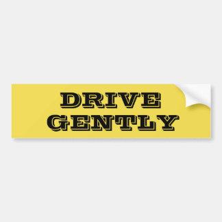 Pegatina para el parachoques de conducción segura