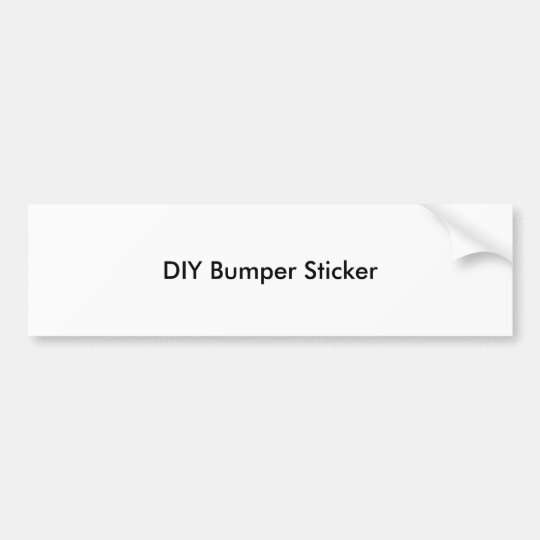 Pegatina para el parachoques de DIY