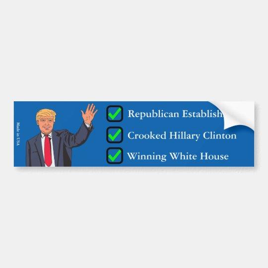 Pegatina para el parachoques de Donald Trump Pegatina Para Coche