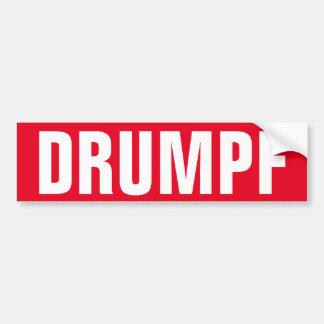 """Pegatina para el parachoques de """"DRUMPF"""": Pegatina"""