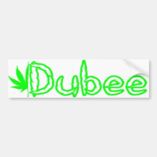 Pegatina para el parachoques de Dubee