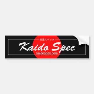 Pegatina para el parachoques de espec. de Kaido