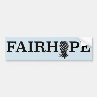 Pegatina para el parachoques de Fairhope - piña al