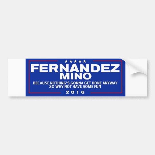 Pegatina para el parachoques de Fernández-Mino