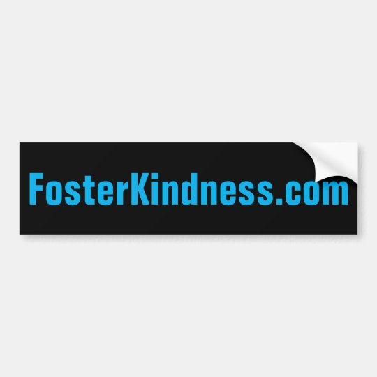 pegatina para el parachoques de FosterKindness.com Pegatina Para Coche