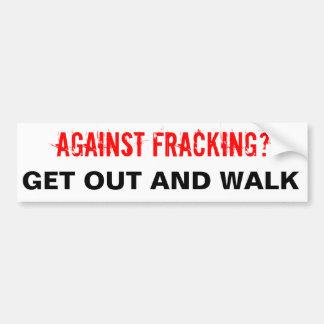 Pegatina para el parachoques de Fracking, blanca