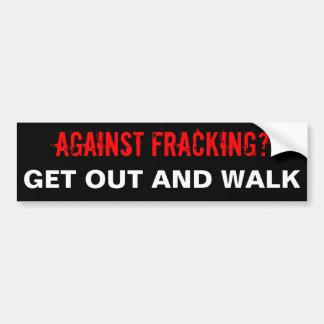 Pegatina para el parachoques de Fracking, negra