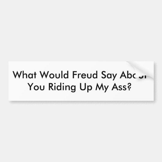 Pegatina para el parachoques de Freud
