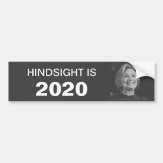 Pegatina para el parachoques de Hillary en 2020