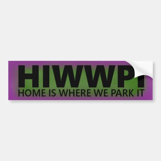 Pegatina para el parachoques de HIWWPI colorida