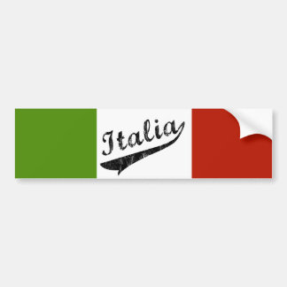 Pegatina para el parachoques de Italia Pegatina De Parachoque