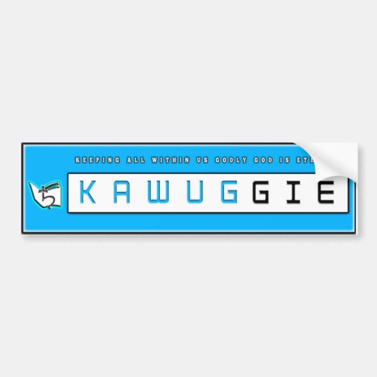 Pegatina para el parachoques de Kawuggie Pegatina Para Coche