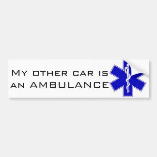Pegatina para el parachoques de la ambulancia