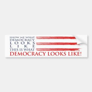 Pegatina para el parachoques de la democracia