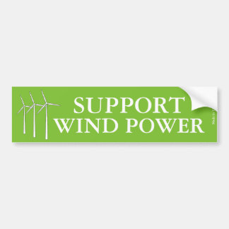 Pegatina para el parachoques de la energía eólica