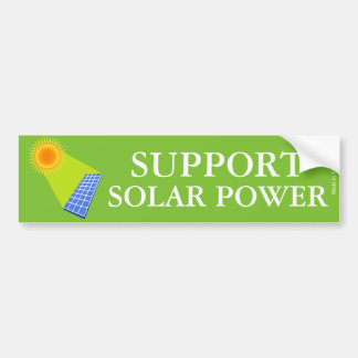 Pegatina para el parachoques de la energía solar