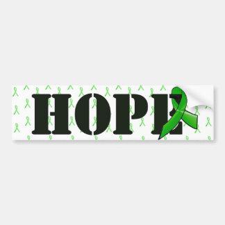 Pegatina para el parachoques de la esperanza con