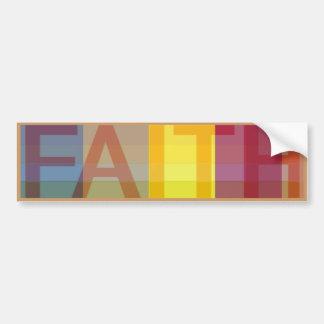 Pegatina para el parachoques de la fe pegatina para coche