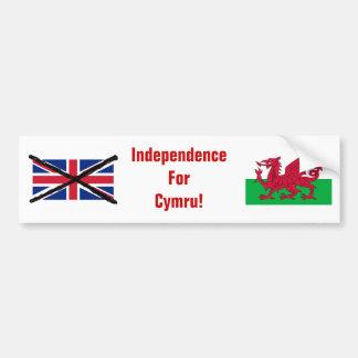 Pegatina para el parachoques de la independencia