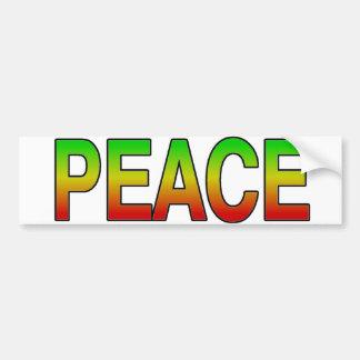 Pegatina para el parachoques de la paz