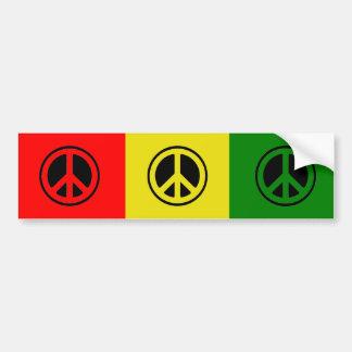 Pegatina para el parachoques de la paz de Rasta Pegatina Para Coche