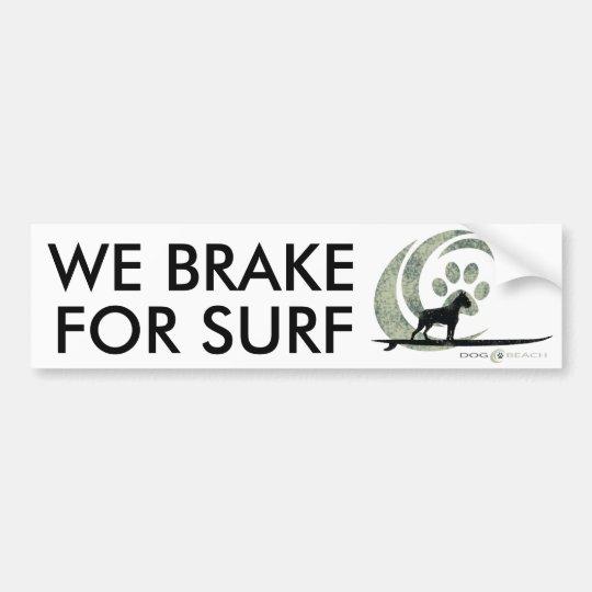 Pegatina para el parachoques de la playa del perro pegatina para coche