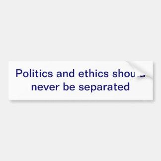 Pegatina para el parachoques de la política y de l etiqueta de parachoque