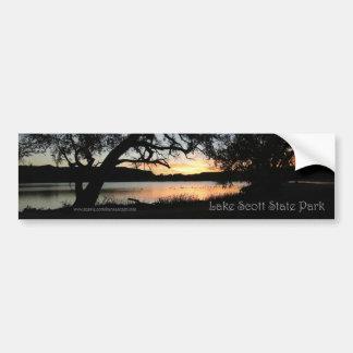Pegatina para el parachoques de la puesta del sol