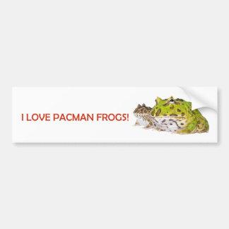 Pegatina para el parachoques de la rana de Pacman