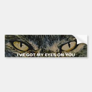 Pegatina para el parachoques de los ojos de gato pegatina para coche