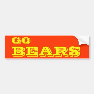 Pegatina para el parachoques de los osos pegatina para coche