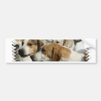 Pegatina para el parachoques de los perros de caza etiqueta de parachoque
