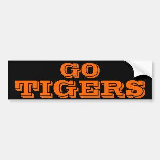 Pegatina para el parachoques de los tigres
