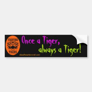 Pegatina para el parachoques de los tigres que pegatina para coche