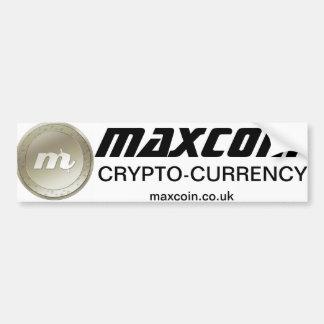 Pegatina para el parachoques de Maxcoin