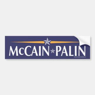 Pegatina para el parachoques de McCain-Palin 08 Pegatina Para Coche