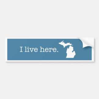 Pegatina para el parachoques de Michigan