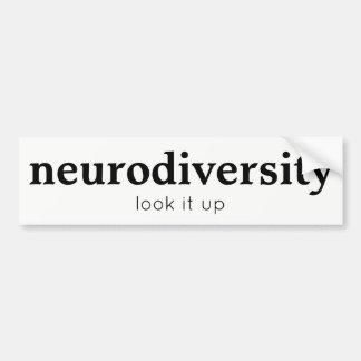 Pegatina para el parachoques de Neurodiversity Pegatina Para Coche