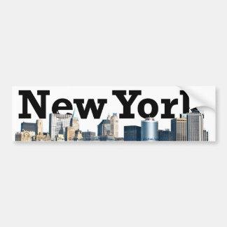 Pegatina para el parachoques de New York City Pegatina Para Coche
