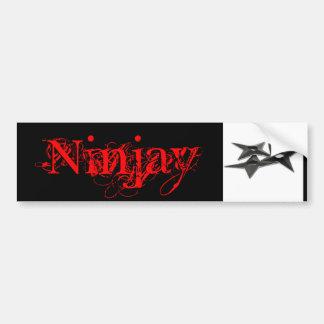 Pegatina para el parachoques de Ninjay Pegatina De Parachoque