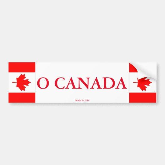 Pegatina para el parachoques de O Canadá Pegatina Para Coche