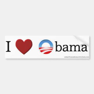 """Pegatina para el parachoques de Obama """"amo a Obama Pegatina Para Coche"""