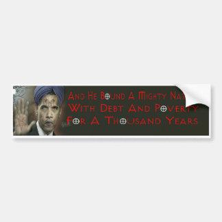 Pegatina para el parachoques de Obama Anti-Cristo Pegatina Para Coche
