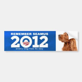pegatina para el parachoques de obama del romney d pegatina para coche