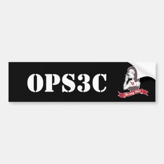 Pegatina para el parachoques de Opsec
