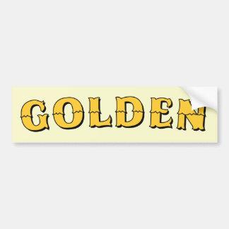 Pegatina para el parachoques de oro de la muestra