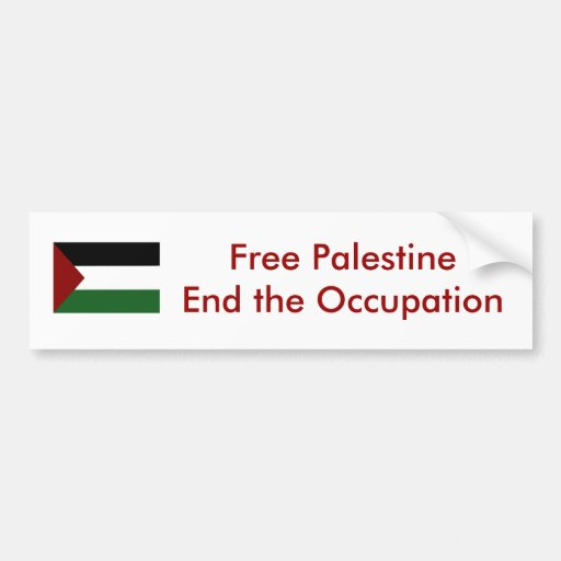 Pegatina para el parachoques de Palestina Pegatina De Parachoque