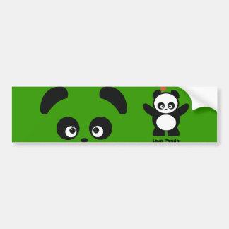 Pegatina para el parachoques de Panda® del amor Pegatina Para Coche