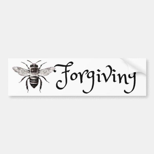 Pegatina para el parachoques de perdón de la abeja