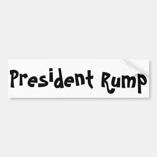 Pegatina para el parachoques de presidente Rump